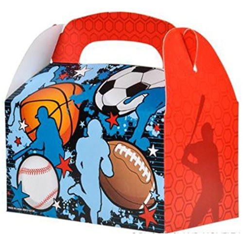 24 SPORTS TREAT BOXES BASKETBALL FOOTBALL SOCCER BASEBALL GOODY TREAT PRIZE BAGS by Deal Monsoon