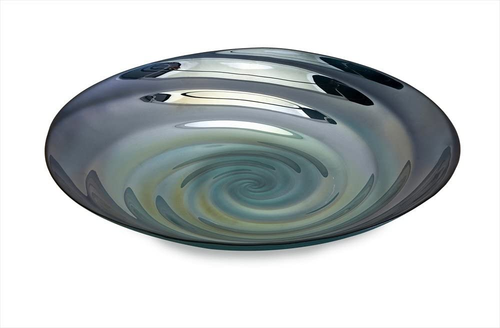 IMAX 83100 Moody Swirl Glass Tray