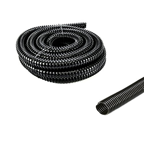 Pisces 0.75in (20mm) Corrugated Black Pond Flexi-Hose (by the metre)