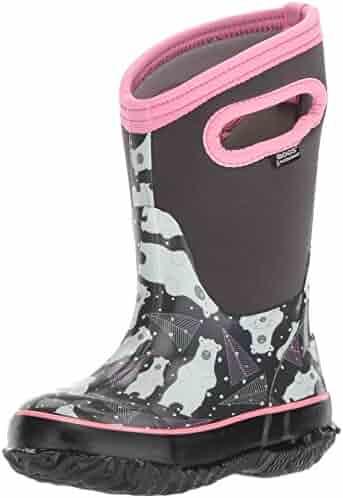 Bogs Kid's Classic High Waterproof Insulated Rubber Neoprene Rain Boot Snow, Bears Print/Dark Gray/Multi, 8 M US Toddler