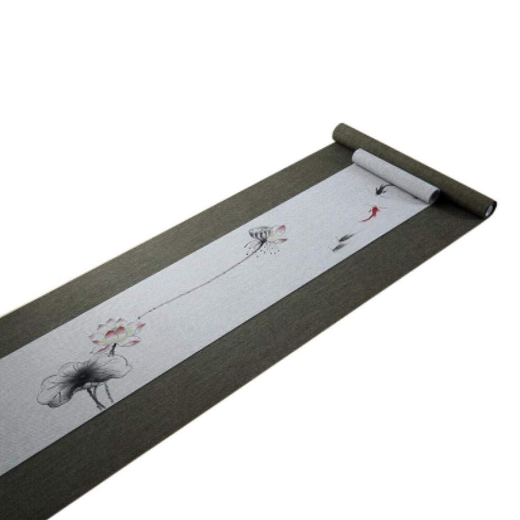 テーブルランナー中国古典的なスタイルの手を2つの部分を上と下の綿とリネンブレンドテーブルランナーコーヒーテーブルランナー居間キッチン贅沢な装飾,C_20*300 35 * 300CM 20*300 35*300CM C B07GB89D21