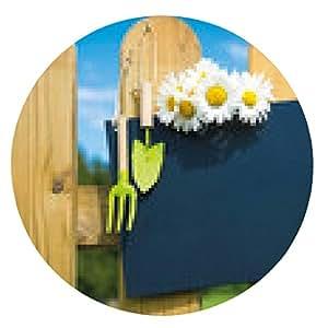 alfombrilla de ratón Cerca del jardín con la placa en blanco en la naturaleza - ronda - 20cm