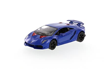 Amazon Com Kinsmart Lamborghini Sesto Elemento Hard Top Blue 5359d