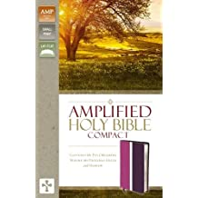 Amplified Holy Bible, Compact, Leathersoft, Pink/Purple: Captures the Full Meaning Behind the Original Greek and Hebrew