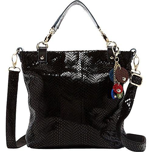 tiffany-fred-snakeskin-satchel-black