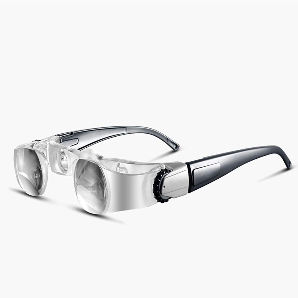 2.1X Binocular Magnifying Glasses Old Man Reading Fishing Watching TV Magnifier Eyeglass 0-300 Degrees Presbyopic Glasses +3D OOFAA