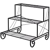 Outdoor Metal Plant Stand Flower Planter Garden Display Holder Shelf Rack 3 Tier