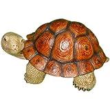 HomeView Design Tortoise, Life Like Walking in Brown Shell Garden Statue