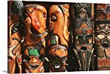 Canvas on Demand Premium Thick-Wrap Canvas Wall Art Print entitled African wooden-craft carvings, Mpumalanga Province, South Africa 48''x32''