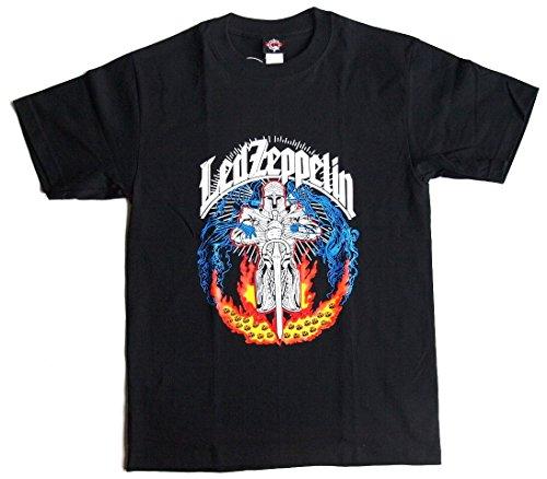 T-Shirt Led Zeppelin Baumwolle Premium Qualität Siebdruck erhältlich in den Größen S, M, L und XL