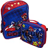 Mariokart Wii Backpack 16 inch with attached Lunch Bag, Outdoor Stuffs