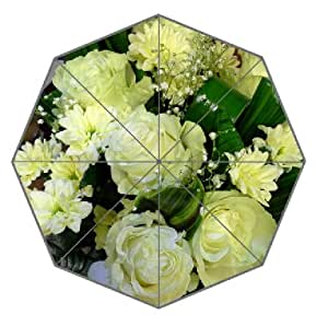 Bouquets Roses Chrysanthemums Flowers 01 Pattern Umbrella Anti-sun And Rain Folding Polyester Fabric Umbrella Wedding Supply