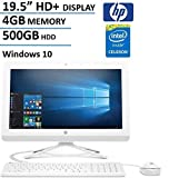 HP 19.5' HD+ All-In-One AIO Desktop Computer, Intel Dual Core Celeron J3060 1.6Ghz CPU, 4GB RAM, 500GB HDD, DVD, HDMI, USB 3.0, Webcam, Bluetooth, Windows 10 (Certified Refurbished)