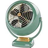 Vornado Classic Metal Authentic Styling Design Vintage Medium 3-Speed, Ultra Quiet, Control Panel with Finger Safe Grill, Full Action Pivot, VFan in Green- Designed for use in rooms up to 180 sq. ft.