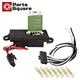 PartsSquare Manual HVAC Blower Motor Resistor 15305077 + 15862656 Wire Harness Connector Replacement for 2002 2003 2004 2005 2006 CHEVROLET AVALANCHE 1500 2001 2002 2003 2004 CHEVROLET SILVERADO 1500