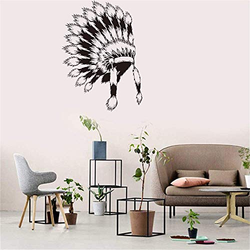 - Sreto Removable Vinyl Mural Decal Quotes Art Wall Sticker Native American Indian Headdress for Living Room Bedroom