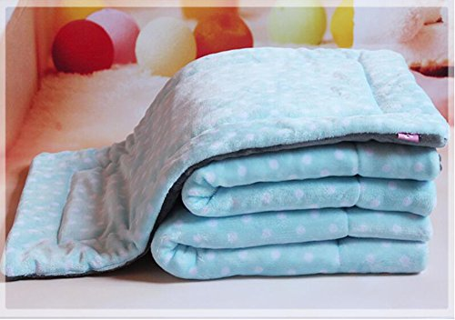 Reversible Pet Thick Blanket for Dog Cat Warm Flannel Pup...