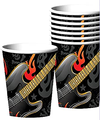 8 Pack Rock On 9oz Cups