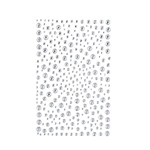 DECORA 325 Clear Rhinestone Stickers Gems and Self Adhesive Craft Bling