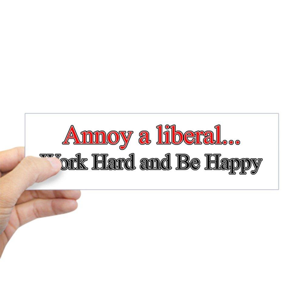 Amazon com cafepress annoy a liberal bumper sticker 10x3 rectangle bumper sticker car decal automotive