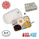 microwavable toddler bowls - Leakproof Bento Lunch Box Food Container Set for Adults and Kids - Insulated Container Lunch box - Microwavable Dishwasher Freezer Safe