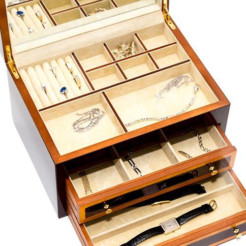 Bello Games New York, Inc. Park Avenue Luxury Rosewood Men's & Woman's Jewelry Box