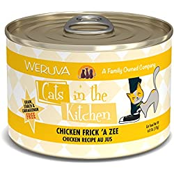 Weruva Cats In The Kitchen, Chicken Frick 'A Zee With Chicken Au Jus Cat Food, 6Oz Can (Pack Of 24)