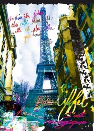 Kaly Magique Eiffel Tower Paris France Pop Art Poster Print 19 5 X 27 5 Inches
