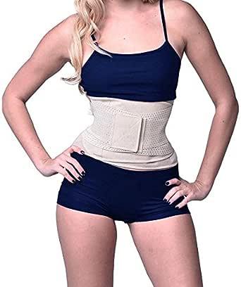 Camellias Women's Waist Trainer Belt - Waist Training Corset Waist Cincher Cinching Slimming Body Shaper- for an Hourglass Weight Loss Workout Gym Fitness Trimmer Slimmer Shaper, AU-SZ8001-Beige-L