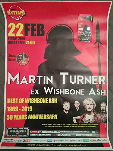 Martin Turner (ex Wishbone Ash), Bag Of Nails @ Κύτταρο, 22/02/19 (POSTER 50 X 69 CM. + ticket) ()