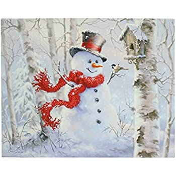 Christmas winter snowman by dona gelsinger 24 for Christmas wall art amazon