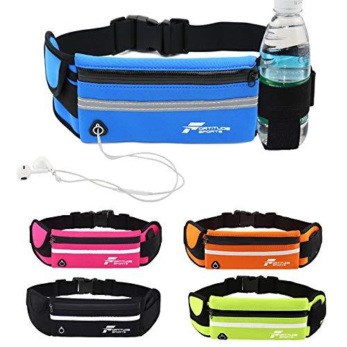 Fortitude Sports Loopgordel met telefoonhouder | heuptas voor hardlopen voor mobiele telefoons, hoofdtelefoon en…