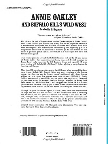 Annie oakley and buffalo bills wild west isabelle s sayers annie oakley and buffalo bills wild west isabelle s sayers 9780486241203 amazon books fandeluxe Image collections