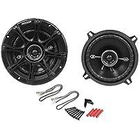 Kicker 41DSC54 5-1/4 5.25 D-Series 200 Watts Peak/50 Watts RMS 3-Way Car Speakers DSC5 with Thin-profile Woofers