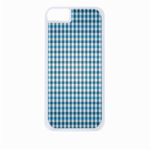 Blue and Green Gingham Pattern Iphone 6 White Plastic case - compatible with Iphone 6 only ()