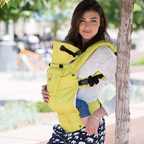 Image of the LÍLLÉbaby The COMPLETE Embossed SIX-Position 360° Ergonomic Baby & Child Carrier, Citrus - Cotton Baby Carrier, Ergonomic Multi-Position Carrying for Infants Babies Toddlers