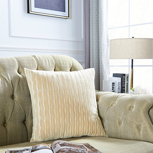 b5161e2a54c OMMATO Throw Pillows Covers 20 X For Couch BedSet Of 2 Beige Ivory ...