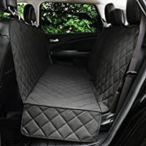 Honest Outfitters Dog Car Seat Cover, Pet Cover for Cars, Trucks, and Suvs - Waterproof & Nonslip Hammock Convertible