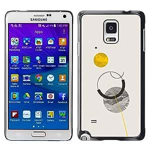 Be Good Phone Accessory // Dura Cáscara cubierta Protectora Caso Carcasa Funda de Protección para Samsung Galaxy Note 4 SM-N910 // Sun Planets Moon Sky Minimalist