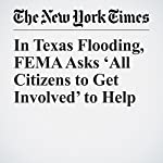 In Texas Flooding, FEMA Asks 'All Citizens to Get Involved' to Help | Eileen Sullivan