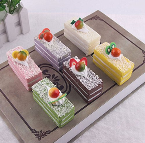 2PCS X 6.5CM Cake Squishy Simulation Super Slow Rising Bread Kid Toy Exclusive