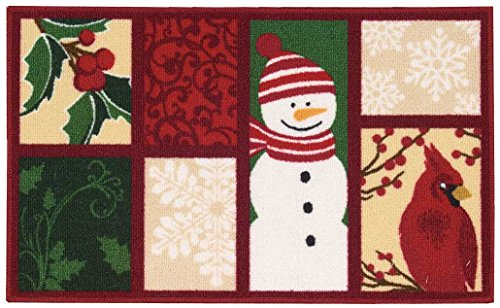 Nourison CJ671 Snowman/Cardinal Multicolor Snowman/Cardinal CJ671,Multicolor