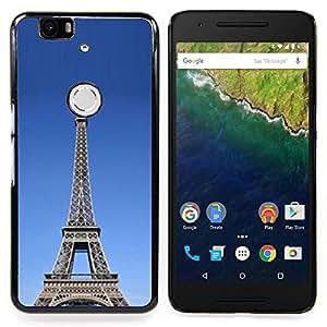 GIFT CHOICE / Teléfono Estuche protector Duro Cáscara Funda Cubierta Caso / Hard Case for Huawei Google Nexus 6P // Architecture The Eiffel Tower Tour //