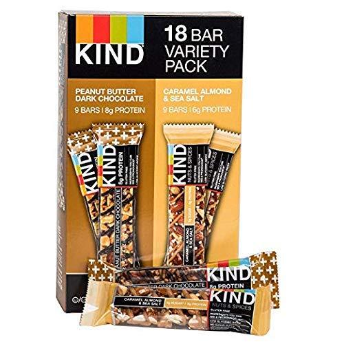 KIND Bar Caramel almond and sea salt & Peanut Butter Dark Chocolate,