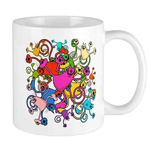 (Stringy Cats Explosion 11 Oz Ceramic Mug - Coffee Mug Gift Coffee Mug 11OZ Coffee Mug)