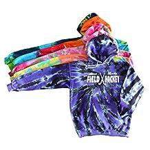 """Field Hockey Tie Dye Sweatshirt - """"Live Love"""" White Ink Logo"""