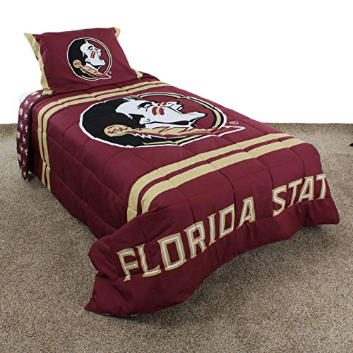 College Covers Florida State Seminoles Comforter Set Queen Team Color - Florida State Seminoles Soft Blanket
