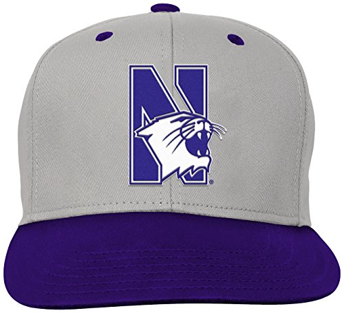 NCAA by Outerstuff NCAA Northwestern Wildcats Kids & Youth Boys Grey Two Tone Flatbrim Snapback Hat, Grey, Youth One Size