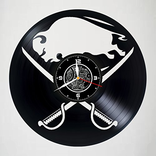 Vikarthouse BUFALLO Sabres Team - Vinyl Record Wall Clock - Get Unique Gifts Presents for Birthday, Christmas, Ideas for Boys, Girls, Men, Women, Adults, him and her - Sport Unique Design
