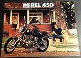 1986 HONDA REBEL 450 MOTORCYCLE SALES BROCHURE 4